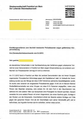Staatsanwaltschaft Frankfurt am Main 29-03-2013 Seite 1