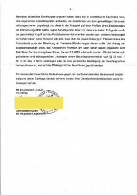 Staatsanwaltschaft Frankfurt am Main 29-03-2013 Seite 2